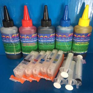 Pigmento-ecofill-Tinte-Tinta-Cartuchos-Recargables-Canon-Pixma-TS-5050-5051-5052-5053
