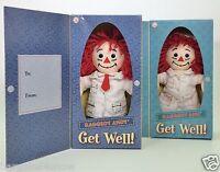 Hasbro Applause Set Of Raggedy Andy Raggedy Ann Get Well Soon Dolls