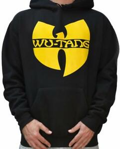 Logo Wu con Wu wear Tang con tang Wear Felpa Clan cappuccio New cappuccio Felpa Wu Black Kapuzenpullover 010zI