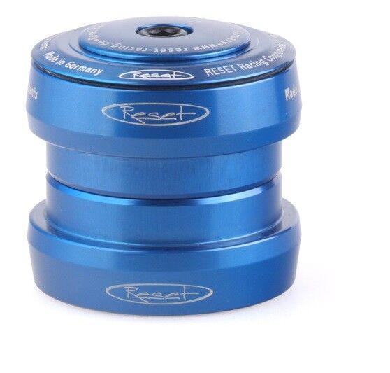 Reset Racing Components Steuersatz Flat44 1 1 8  Aluminium Blau