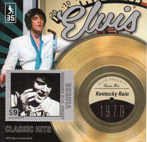 Bequia Grenadines St Vincent 2013 MNH Elvis Presley Classic Hits II 1v S/S Rain
