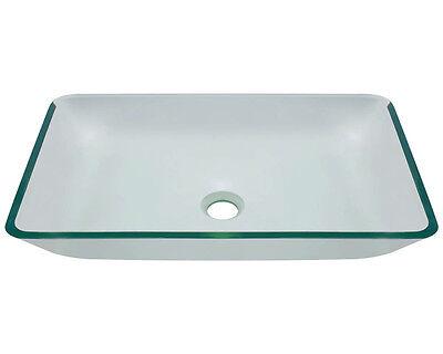 MR Direct 640 Crystal Glass Vessel Bathroom Sink