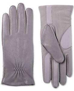 Isotoner-Signature-Women-039-s-Sleek-Heat-Leather-Nylon-SmartTouch-Gloves