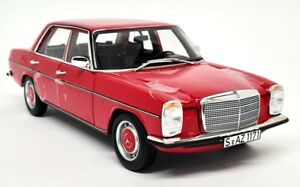 Norev 1/18 - Mercedes Benz 200/8 W115 1973 Red Diecast Scale Model Car