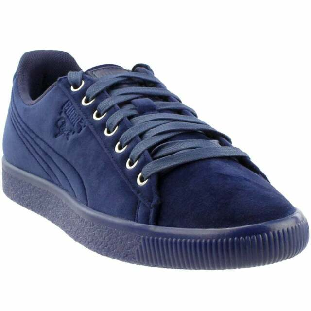 Puma Clyde Velour Ice Sneakers Casual    - Navy - Mens