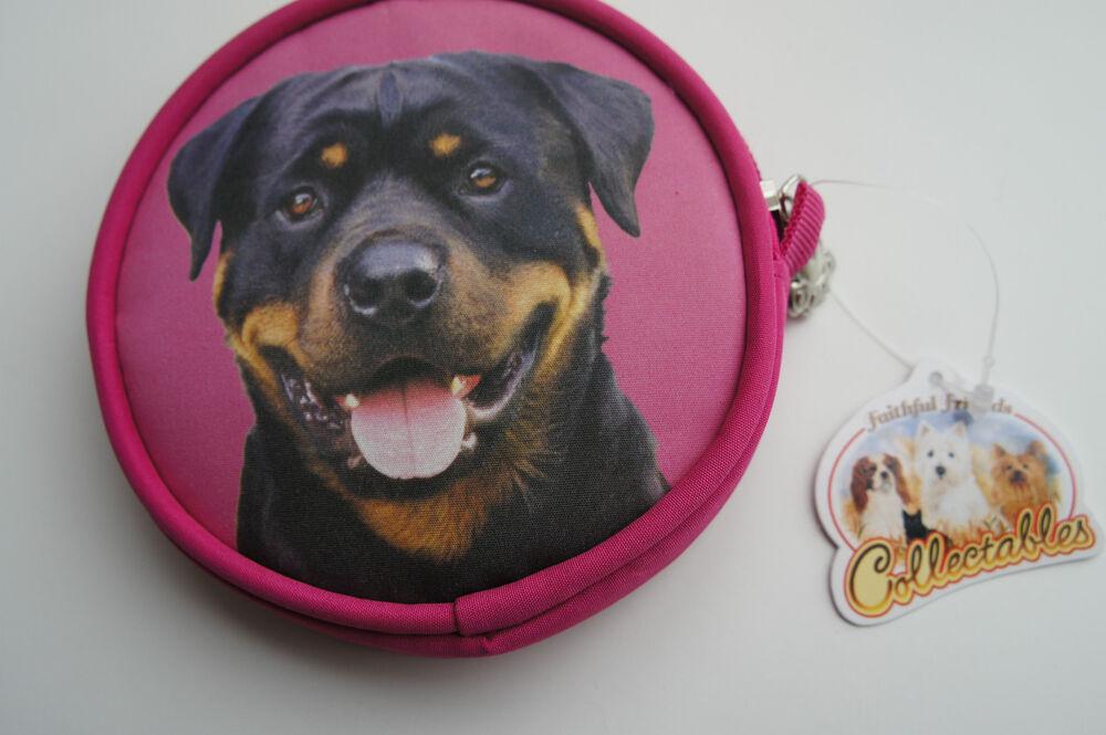 à Condition De Rottweiler Rotty Chien Porte-monnaie Cadeau Idéal Pour Les Amateurs De Chien Sac à Main Rose AgréAble En ArrièRe-GoûT