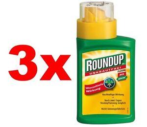 3-x-Roundup-Unkrautfrei-LB-Plus-250ml-Unkrautvernichter-Glyphosat-k-Sachkunde