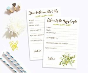 Advice Cards For Mr Mrs Happy Couple Wedding Card Guest Book