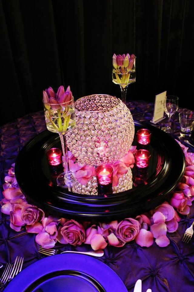 XXL Kristallleuchter, Kerzenständer, auch als Deko mit Blaumen geeignet