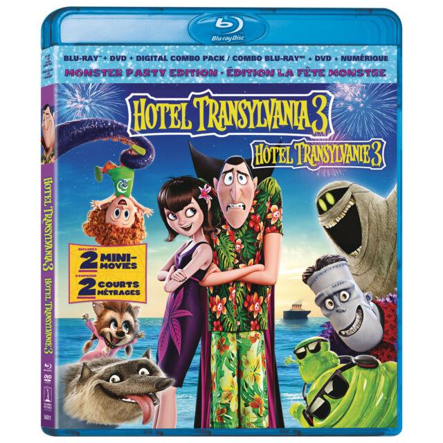 Hotel Transylvania 3: (Blu-ray/DVD/ Digital) New