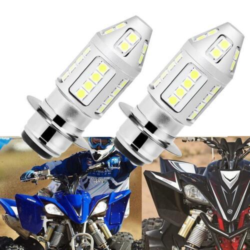 2X LED Head Light Bulbs 80W ATV//Motorcycle For Yamaha YFZ450 Banshee 350 YFZ350