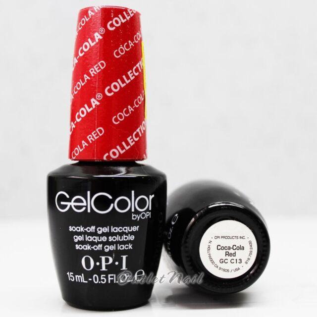 Opi Gelcolor Coca Cola Collection Gc C13 Coca Cola Red 15ml 0 5oz Uv Gel Polish