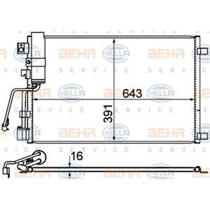 ORIGINAL HELLA Klimaanlage Kondensator 8FC351310-141