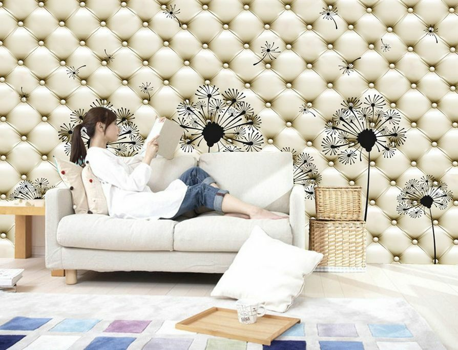 3D Leder decoration dandelion Wall Paper Wall Print DecalWall DecoAJ WALLPAPER