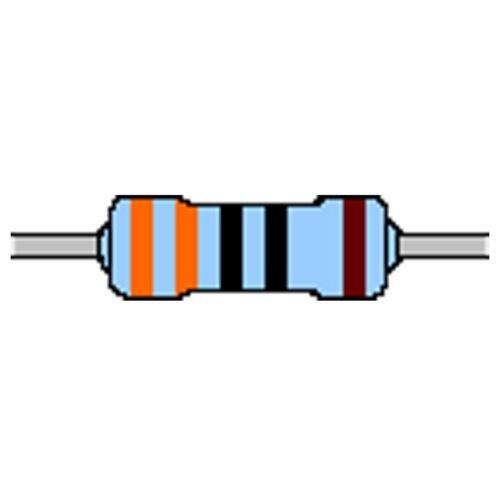 Yageo 100x Metallfilm-Widerstand  330 Ohm 1/% Bauform 0204 axial von Vitrohm