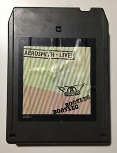Aerosmith-Live-Bootleg-8-Track-Tape-Cartridge-Columbia-Records-Tyler-Vtg-1978