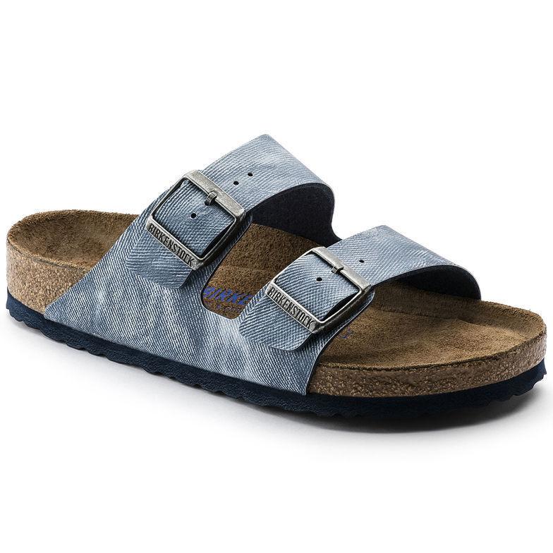 Birkenstock Arizona jeans washed out blue~ 1005354 ~NEU~ Weichbett ~ schmal