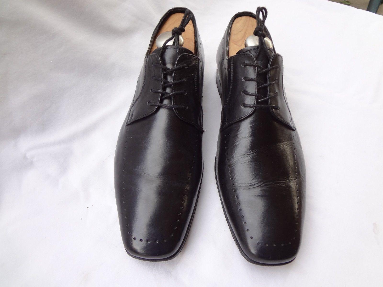 JOHN Weiß ENGLAND schwarz CALF CALF CALF LEATHER FULL CUT OXFORD DRESS schuhe Größe 10 D a67538