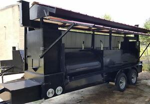 Mega T Rex Pro Roof Bbq Smoker Cooker Grill Trailer Mobile