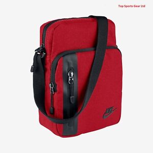 0e8353d6164f Details about Nike 3.0 Small Item Mini Travel Flight Passport Body Shoulder  Messenger Bag Red