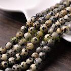 30pcs 8mm Round Natural Stone Loose Gemstone Beads Spots Stone