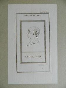 XVIII-gravure-Portrait-VAUCANSON-Inventeur-l-039-automate-celebre-mecanicien-Magie