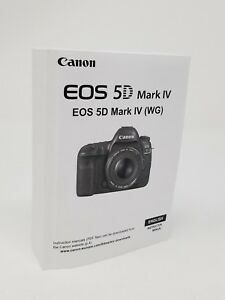 canon eos 5d mark iv genuine instruction owners manual book original rh ebay com nord electro 5d instruction manual 5d mark iv instruction manual