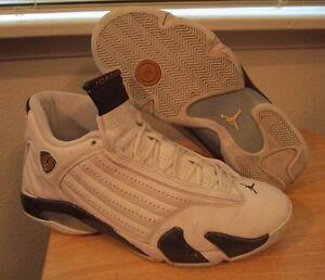 best sneakers bfdc7 7f872 RARE 2005 Air Jordan Retro XIV 14 White Dark Cinder Chutney Mens ...