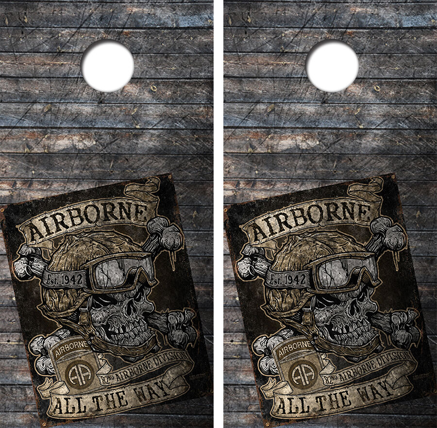 82nd Airborne Cornhole Board Game Decal  Wraps w FREE APPLICATION SQUEEGE  considerate service