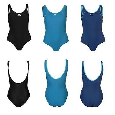 Ladies Slazenger Racer Swim Suit Swimming Costume Swimsuit Swimmers ~ Sizes 8-22