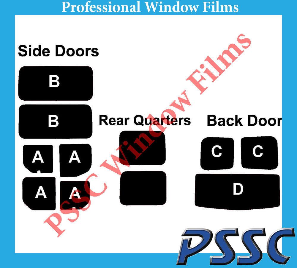 PSSC Pre Cut Rear Car Window Films - for Nissan Primastar 2001 to 2016