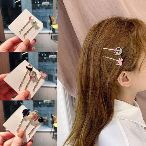 Colorful Star Moon Cat Planet Hair Clip Korean Hairpin Clip Accessories Women