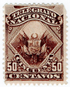 I-B-Peru-Telegraphs-50c-Dark-Brown-1876