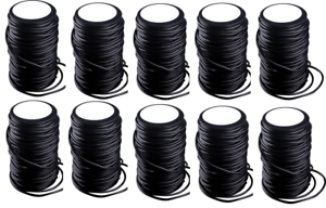 Lot of 10 100' Spools Of Danielson Twist and Knot Free PVC Coated Decoy Cord