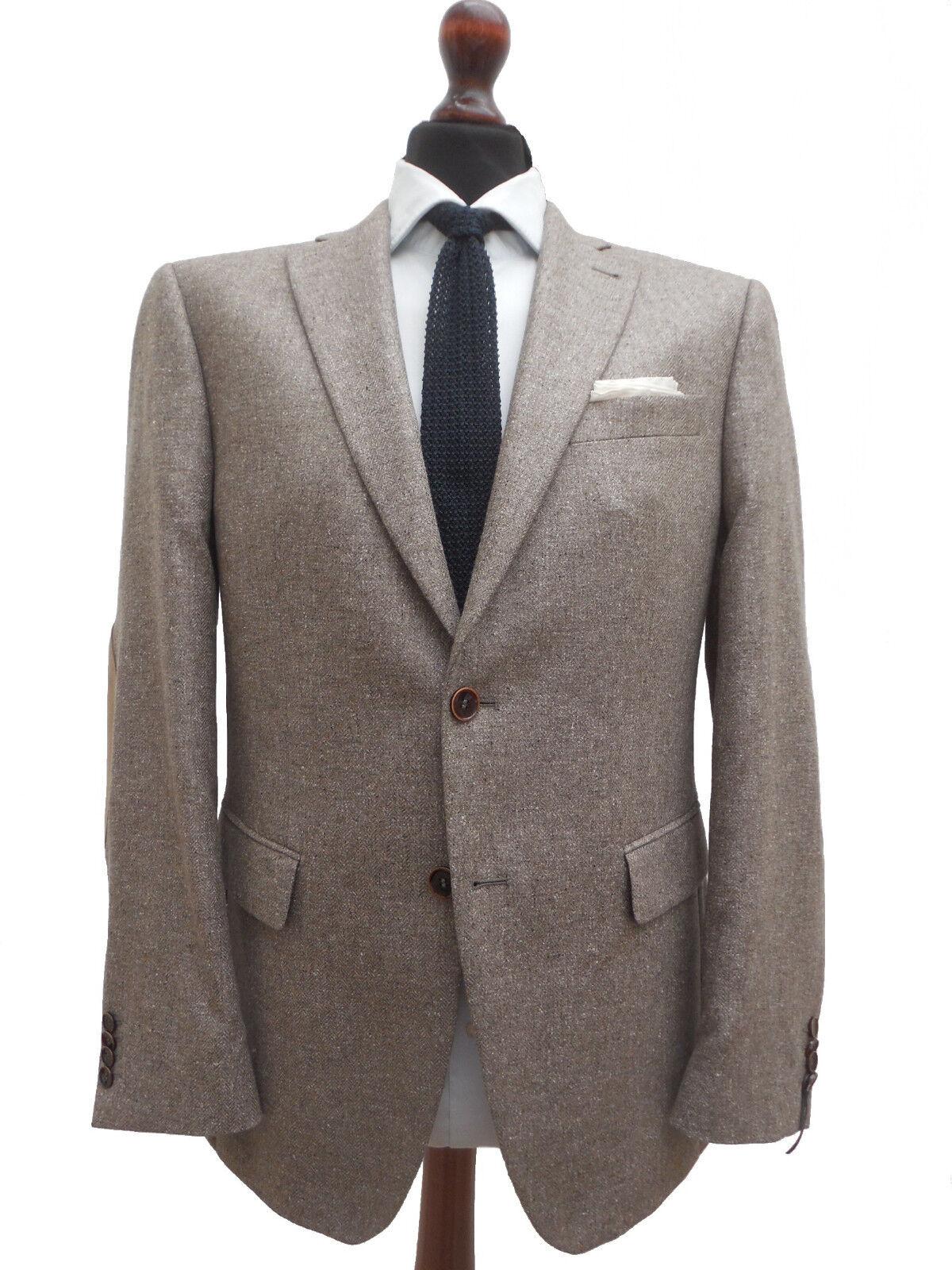 BARUTTI 100% Seide Sakko Gr. 24 pure silk mit Armpatches Neuwertig
