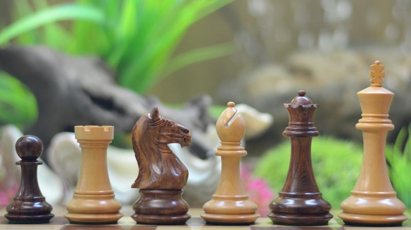 Fierce Knight Staunton Wooden Chess Pieces in Shesham & Box Wood - 4.0  S1251