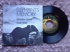 "ELEPHANT'S MEMORY / LIBERATION SPECIAL - POWER BOOGIE - 7"" (Italy 1972 - Apple)"