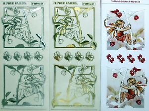 Match-It-FLOWER-FAIRIES-Paper-Sheet-amp-Embossed-Peel-Off-Sticker-Transparent-6614