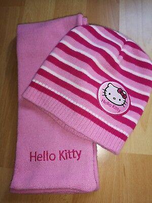 Ehrgeizig Hello Kitty Winterset * Mütze + Schal * One Size Gr. 110 / 116 - 122 / 128 *