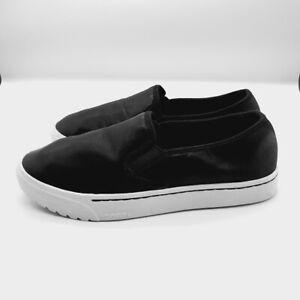 sorel womens campsneak slip on black casual comfort shoes