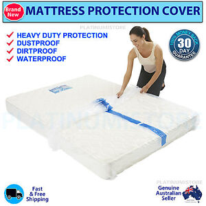 ... Double King Mattress Cover Protector Bag Storage Moving Dust | eBay