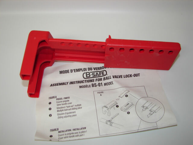 Honeywell BS01R North Red B-Safe Ball Valve Lockout for 3//8 to 1-1//4 Valves