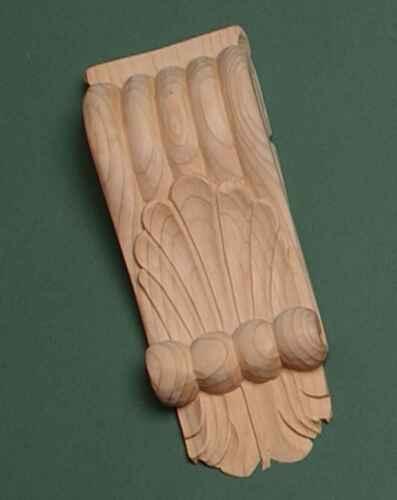 1 x paire 718 Main décoratif en bois sculpté de pin en encorbellement