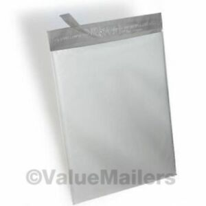 1-2000 14.5X19 Poly Mailers Bags 2.35 mil thick White Shipping Envelopes