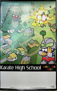 KARATE-HIGH-SCHOOL-Arcade-Rock-orig-Evo-promotional-poster-2006-11x17-EX