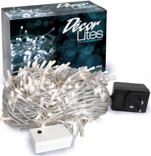 Weiß Decor Lites Klar Draht 480 statische LED Lampen | Stil  | Starke Hitze- und Hitzebeständigkeit