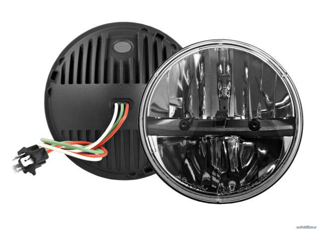"Truck-Lite (2) 27270C 7"" Round LED Headlights w/ 2 Jeep Anti-Flicker Harnesses"