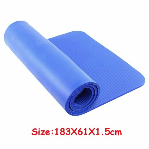 YOGA MAT EXERCISE FITNESS AEROBIC GYM PILATES CAMPING NON SLIP 15mm THICK HT