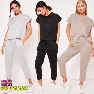 f1eb1f081084 2PCS Women Summer Tracksuits Set Lounge Wear Ladies Tops Suit Pants ...