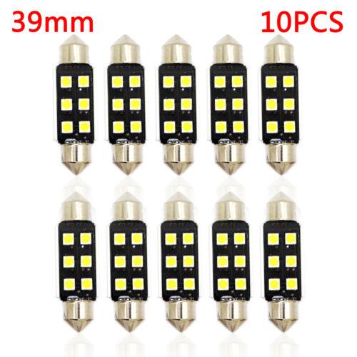 10x 31 36 39 42mm C5W Festoon LED Canbus Interior LIght Number Bulb 6000K UK